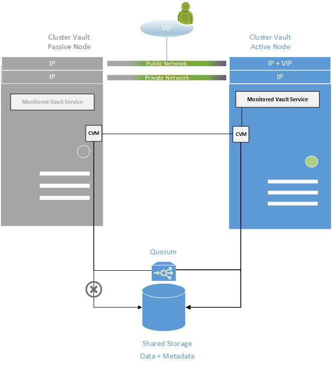 Install the Digital Cluster Vault Server in an HA Environment on