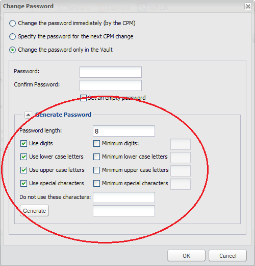 Change Passwords | CyberArk Docs