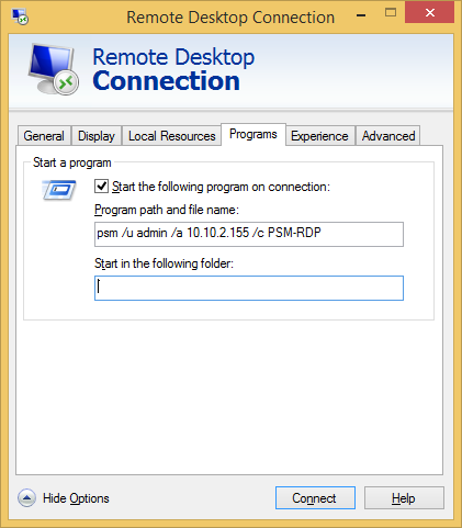 Microsoft Remote Desktop Connection Manager: CyberArk PSM Connection Configuration Guide